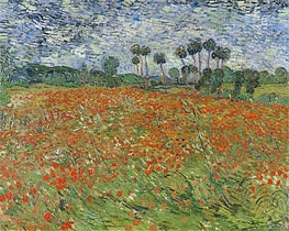 Vincent van Gogh | Field with Poppies, 1890 | Giclée Canvas Print