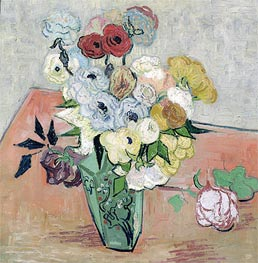 Vincent van Gogh | Still Life - Vase with Roses and Anemones, 1890 | Giclée Canvas Print