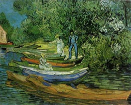 Vincent van Gogh | Bank of the Oise at Auvers, 1890 | Giclée Canvas Print