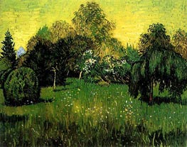 Vincent van Gogh | Public Park with Weeping Willow, 1888 | Giclée Canvas Print