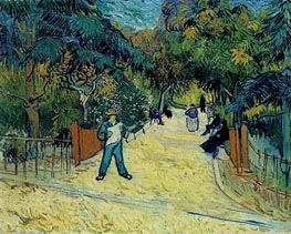 Vincent van Gogh | Entrance to the Public Garden in Arles, 1888 | Giclée Canvas Print