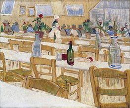 Vincent van Gogh | Interior of the Restaurant Carrel in Arles, 1887 | Giclée Canvas Print