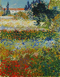 Vincent van Gogh | Flowering Garden, 1888 | Giclée Canvas Print