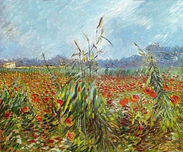 Vincent van Gogh | Corn Fields and Poppies, 1888 | Giclée Canvas Print