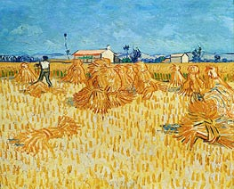 Vincent van Gogh | Harvest in Provence, 1888 | Giclée Canvas Print