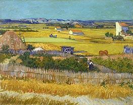 Vincent van Gogh | Harvest at La Crau with Montmajour, June 1888 | Giclée Canvas Print