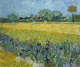 Vincent van Gogh | View of Arles with Irises in the Foreground, 1888 | Giclée Canvas Print