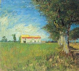 Vincent van Gogh | Farmhouse in a Wheat Field, 1888 | Giclée Canvas Print