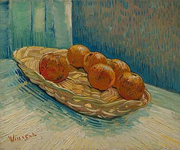 Vincent van Gogh | Still Life with Basket of Six Oranges, March 1888 | Giclée Canvas Print
