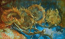 Vincent van Gogh | Four Cut Sunflowers, 1887 | Giclée Canvas Print