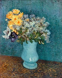 Vincent van Gogh | Vase with Lilacs, Daisies and Anemones, 1887 | Giclée Canvas Print