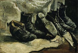 Vincent van Gogh | Three Pair of Shoes, c.1886/87 | Giclée Canvas Print