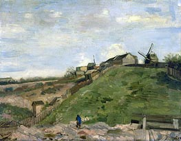 Vincent van Gogh | The Hill of Montmartre with Stone Quarry | Giclée Canvas Print