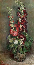 Vincent van Gogh | Vase with Hollyhocks | Giclée Canvas Print