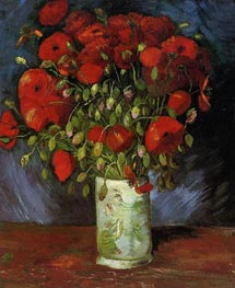 Vincent van Gogh | Vase with Red Poppies, c.1886 | Giclée Canvas Print