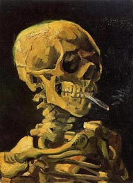 Vincent van Gogh | Skull with Burning Cigarette, 1886 | Giclée Canvas Print