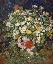 Bouquet of Flowers in a Vase, c.1889/90 by Vincent van Gogh | Giclée Canvas Print