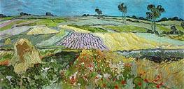 Vincent van Gogh | Fields near Auvers, 1890 | Giclée Canvas Print