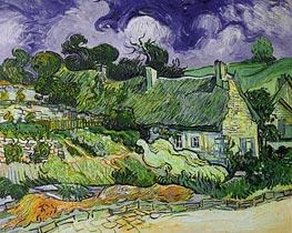 Vincent van Gogh | Thatched Cottages at Cordeville, 1890 | Giclée Canvas Print