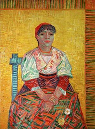 Vincent van Gogh | The Italian: Agostina Segatori, 1887 | Giclée Canvas Print