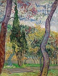 Vincent van Gogh | Park of the Saint-Paul Hospital, 1889 | Giclée Canvas Print