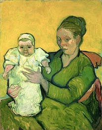 Vincent van Gogh | Portrait of Madame Augustine Roulin and Baby Marcelle, c.1888/89 | Giclée Canvas Print
