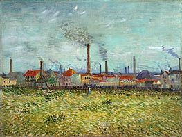 Vincent van Gogh | Factories at Clichy, 1887 | Giclée Canvas Print