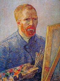 Vincent van Gogh | Self Portrait at the Easel, c.1887/88 | Giclée Canvas Print