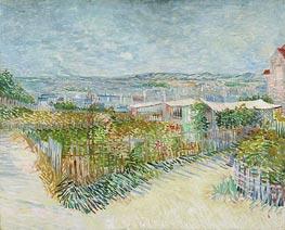 Vincent van Gogh | Montmartre: Behind the Moulin de la Galette, 1887 | Giclée Canvas Print