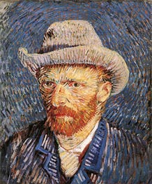 Vincent van Gogh | Self Portrait with Felt Hat, 1888 | Giclée Canvas Print