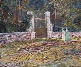 Vincent van Gogh | Entrance to the Voyer-d'Argenson Park at Asnieres | Giclée Canvas Print