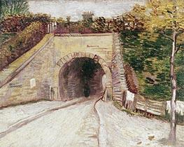 Vincent van Gogh | Roadway wtih Underpass (Tunnel through Hillside), 1887 | Giclée Canvas Print