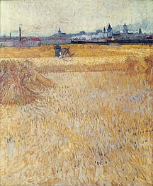 Vincent van Gogh | Wheatfield with Sheaves | Giclée Canvas Print