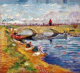 Vincent van Gogh | The Gleize Bridge over the Vigneyret Canal, near Arles, 1888 | Giclée Canvas Print
