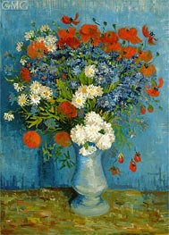 Vincent van Gogh | Vase with Cornflowers and Poppies | Giclée Canvas Print