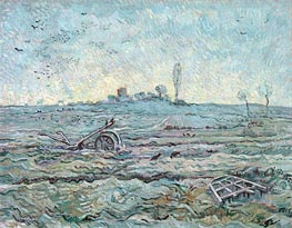 Vincent van Gogh | Snow-Covered Field with a Harrow, 1890 | Giclée Canvas Print