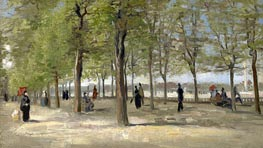 Vincent van Gogh | Terrace in the Luxembourg Gardens | Giclée Canvas Print