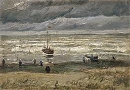 Scheveningen Beach in Stormy Weather, 1882 by Vincent van Gogh | Giclée Canvas Print