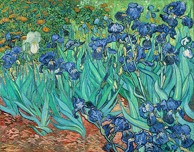 Irises, 1889 | Vincent van Gogh | Painting Reproduction
