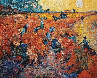 Red Vineyards at Arles, 1888 | Vincent van Gogh | Painting Reproduction
