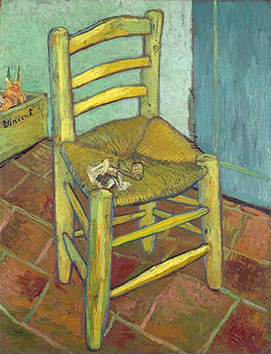 Vincent's Chair with His Pipe, 1888   Vincent van Gogh   Painting Reproduction