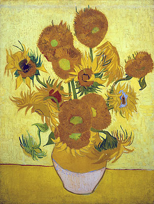 Still Life: Vase with Fourteen Sunflowers, 1889 | Vincent van Gogh | Painting Reproduction