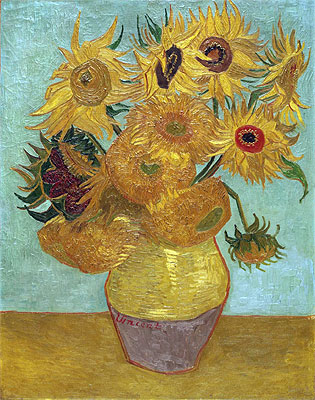 Still Life: Vase with Twelve Sunflowers, c.1888/89 | Vincent van Gogh | Painting Reproduction