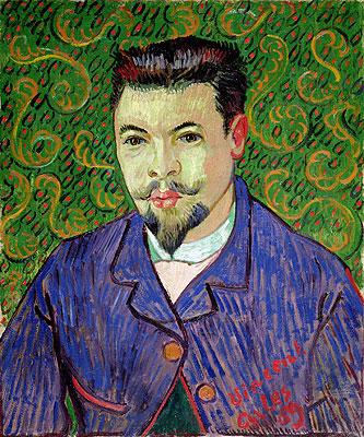 Portrait of Doctor Felix Rey, 1889 | Vincent van Gogh | Painting Reproduction