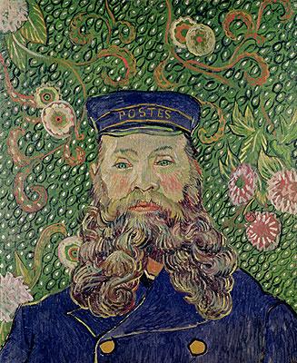 Portrait of the Postman Joseph Roulin, 1889   Vincent van Gogh   Painting Reproduction