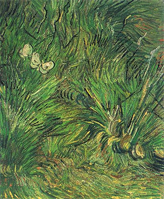 Two White Butterflies, 1889 | Vincent van Gogh | Painting Reproduction