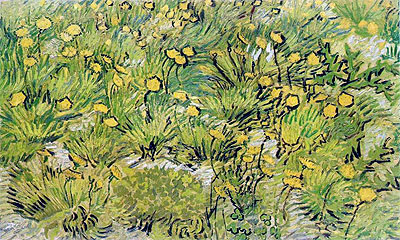 A Field of Yellow Flowers, 1889   Vincent van Gogh   Painting Reproduction