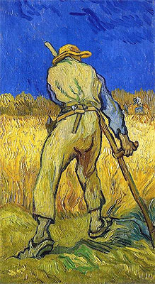 The Reaper (after Millett), 1889 | Vincent van Gogh | Painting Reproduction