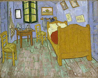 Vincent's Bedroom in Arles, 1889   Vincent van Gogh   Painting Reproduction