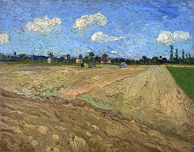 The Plowed Field, 1888 | Vincent van Gogh | Painting Reproduction
